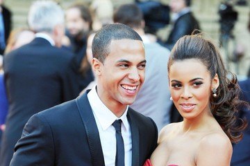 Marvin Humes and Rochelle Wiseman Jayne Torvill arrives at a British Olympic Team GB gala