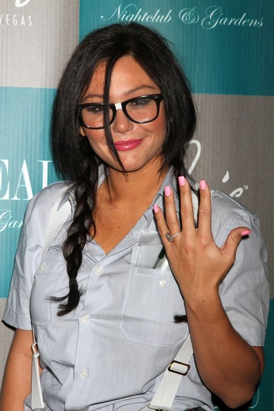 Braid of the Day: JWoww's Adorkable Pigtail Braids (+ Pics of Her Engagement Ring!)