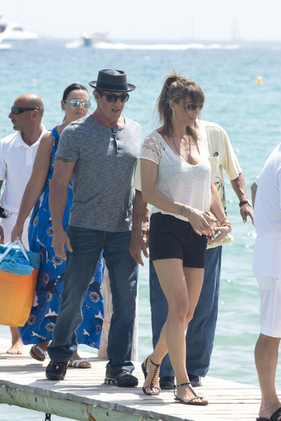 Sylvester Stallone Hangs Out in St. Tropez