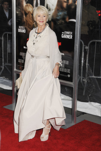 "Dame Helen Mirren at the New York premiere of ""Arthur"" held at the Ziegfeld Theatre."