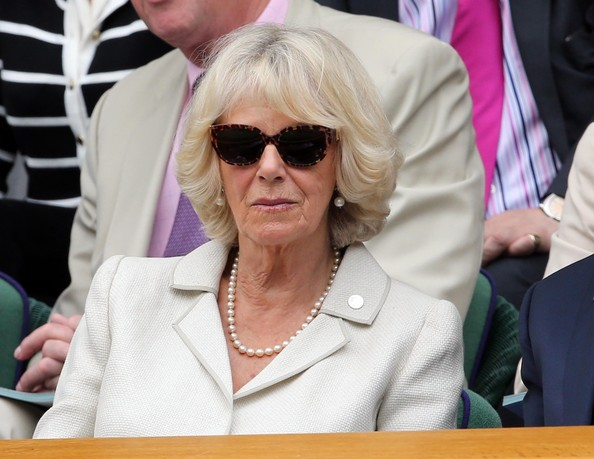 Camilla Parker Bowles Sits in Centre Court's Royal Box