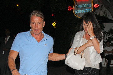Jenny Sandersson Dolph Lundgren and Jenny Sandersson at Chateau Marmont