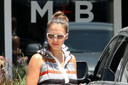 Jessica Alba shows off her blossoming baby bump as she goes shopping at the Jenni Kayne store with daughter Honor Marie.