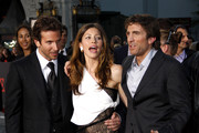 """L-R Bradley Cooper, Jessica Biel and Sharlto Copley on the red carpet at the world premiere of """"The A-Team"""" held at the Grauman's Chinese Theater, Hollywood."""