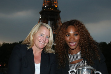 Jill Smoller Serena Williams Poses with Her French Open Trophy
