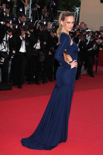 "Bar Refaeli arrives for the premiere of the new film ""The Beaver"", held during the 64th Annual Cannes Film Festival at the Palais des Festivals."