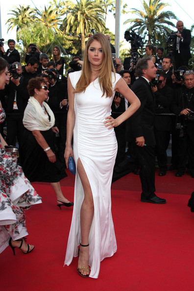 "Doutzen Kroes arrives for the premiere of the new film ""The Beaver"", held during the 64th Annual Cannes Film Festival at the Palais des Festivals."