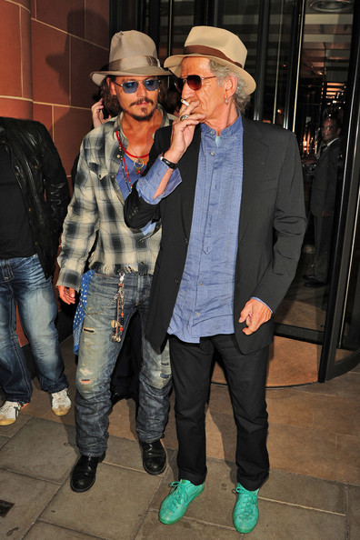 Johnny Depp and Keith Richards Leave C London Restaurant