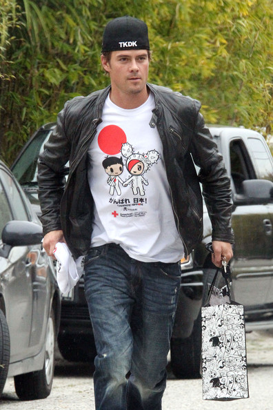 Josh Duhamel shows his support for the Japan earthquake and tsunami victims by hosting an upcoming Youth Run for Japan with the help of the American Red Cross. Duhamel sported the event's official t-shirt which will take place on Sunday March 27th in Santa Monica.