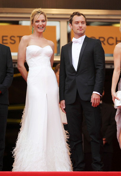 "Jude Law Uma Thurman and Jude Law attend a screening of ""Midnight in Paris"" on the opening night of the Cannes Film Festival. The film, which is directed by Woody Alan, opened at the Palais des Festival to good reviews."