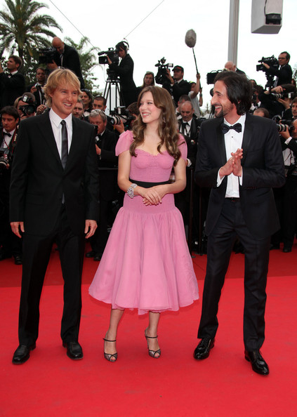 "Owen Wilson, Lea Seydoux and Adrien Brody at the premiere screening of ""Midnight in Paris"" on the opening night of the  64th Annual Cannes Film Festival."