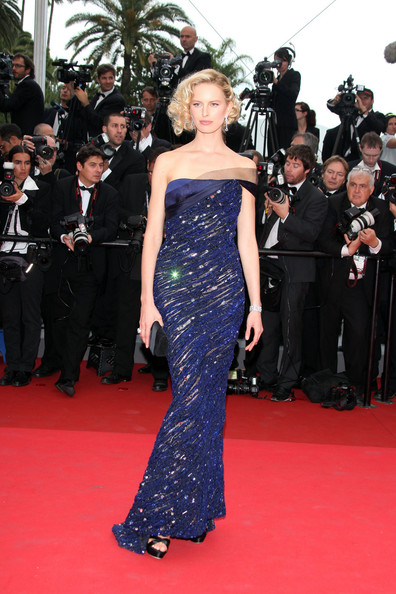 """Model Karolina Kurkova at the premiere screening of """"Midnight in Paris"""" on the opening night of the  64th Annual Cannes Film Festival."""