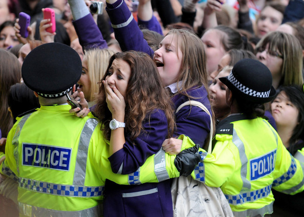 Justin Bieber BIEBER FEVER! Justin Bieber fans are reportedly injured in the crush outside his hotel, The Hard Days Night Hotel, in Liverpool ahead of his gig at the Echo Arena on tomorrow. Paramedics and police were called in after school girls were crushed while attempting to get a glimpse of their idol.