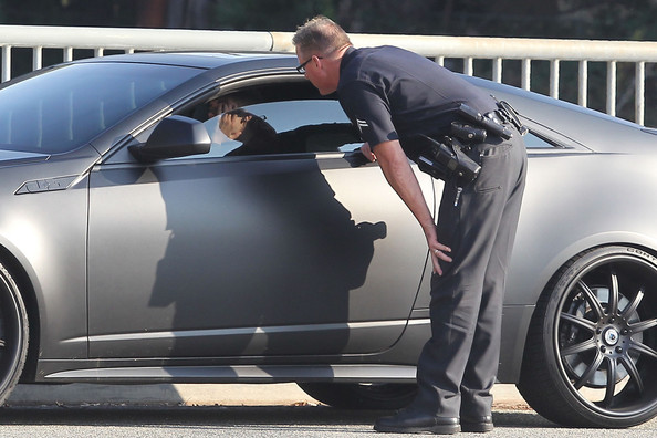 Justin Bieber - Justin Bieber Pulled Over in the 'Batmobile'