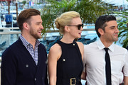 Justin Timberlake, Carey Mulligan and Oscar Isaac attend the photocall for 'Inside Llewyn Davis' during the 66th Annual Cannes Film Festival at Palais des Festivals in Cannes.