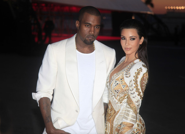 Kanye West - Kim Kardashian and Kanye West Together at Cannes 2