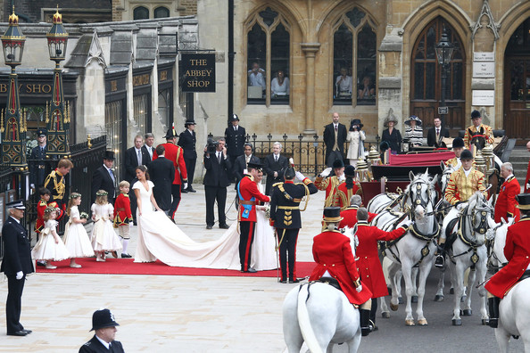 Newly Married Royals Leave Westminster Abbey