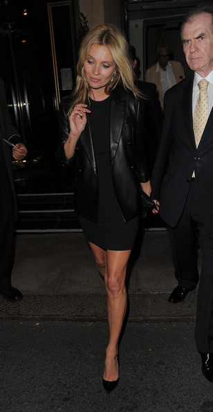 Kate Moss and Jamie Hince Leave Their Hotel