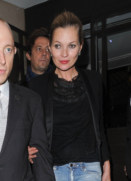 Kate Moss Leaves Her London Hotel