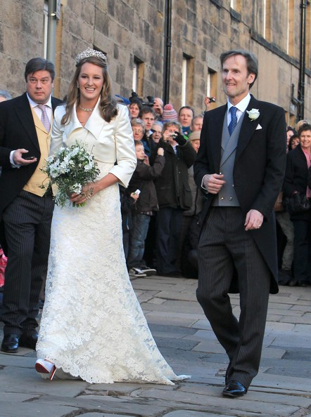 The reception took place at Alnwick Castle which doubles as Hogwarts in the