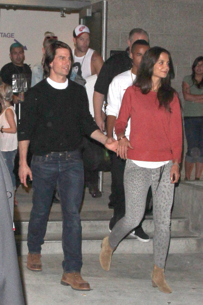 Tom Cruise and Katie Holmes at the Katy Perry Concert