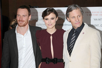 """Viggo Mortensen Keira Knightley Keira Knightley attending the UK premiere of """"A Dangerous Method"""" held in the crystal room at the May Fair Hotel, London"""