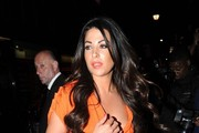 """Cara Kilbey arrives at the after-party for """"Keith Lemon: The Film"""" held at Planet Hollywood in London."""