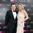 Chris Hollins Kenny Logan poses at The Grand Prix Ball at The Hurlingham Club in London