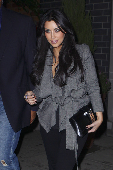 "Kim Kardashian Kim Kardashian and new husband Kris Humphries visit his old apartment in New Jersey. Kim is currently in New York to film the second season of her show ""Kourtney and Kim Take New York"" with sister, Kourtney Kardashian."