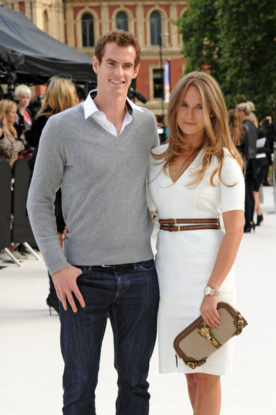 Kim Sears - Andy Murray and Kim Sears at the Burberry Show