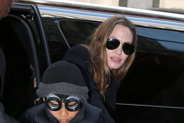 Knox Jolie-Pitt Angelina Jolie and Kids in NYC