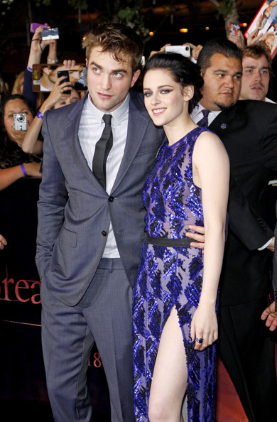 Kristen Stewart and Robert Pattinson - Stars at the LA Premiere of 'Breaking Dawn'