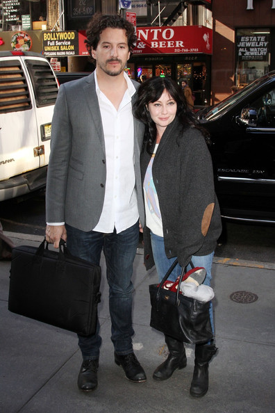 Shannen Doherty and Kurt Iswarienko at the 'Today' Show