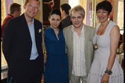(L to R) Nat Rothschild, Nefer Suvio, Nick Rhodes and Ghislaine Maxwell attend the National Youth Orchestra of The United States of America Reception at the The Royal Albert Hall hosted by Ronald O. Perelman in London.