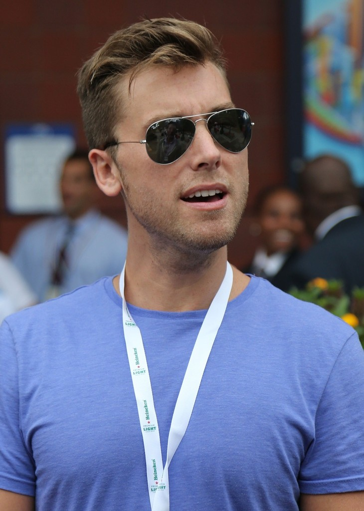 Lance Bass in Celebs at the US Open - Zimbio