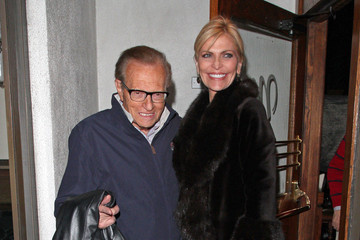 Larry King HAPPY BIRTHDAY LARRY!! Shawn Southwick seen arriving and leaving the Madeo's restaurant with a mystery male companion after Larry Kings 79th birthday party