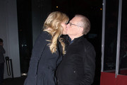 Larry King and wife Shawn Southwick share a laugh and a kiss as they leave the BOA steakhouse in West Hollywood.