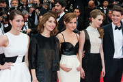 Emma Watson, Sofia Coppola, Taissa Farmiga, Katie Chang and Israel Broussard arriving for the screening of 'Jeune et Jolie' during 66th Cannes International Film Festival at Palais des Festivals in Cannes.