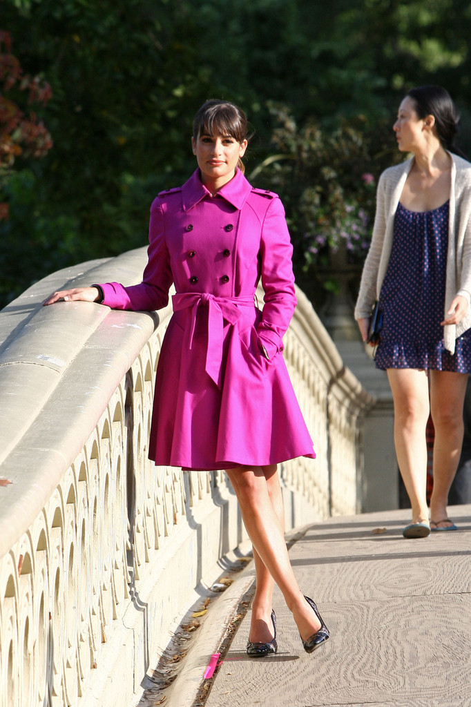 Look We Can't Wait to Try This Fall: A Fuchsia Trench Coat