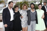 Rebecca Zlotowski, Tahar Rahim, Lea Seydoux, Camille Lellouche and Denis Menochet attending the photo call for 'Grand Central' at the 66th Annual Cannes Film Festival in Cannes.