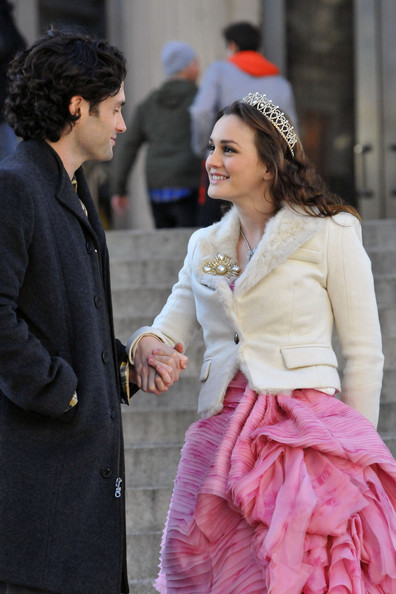 Leighton Meester - Leighton Meester and Penn Badgley Film 'Gossip Girl' 2