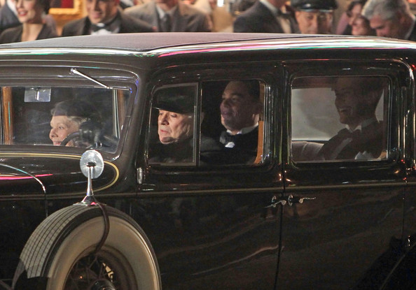 Leonardo Di Caprio and Dame Judi Dench shooting scenes for Clint Eastwoods new biopic period movie 'J. Edgar' in Downtown Los Angeles.