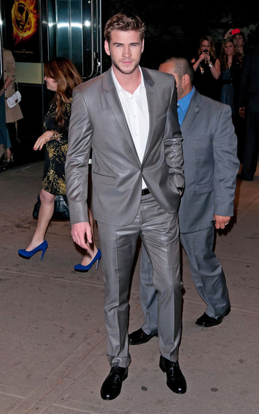 "Liam Hemsworth Liam Hemsworth attending the Cinema Society & Calvin Klein Collection screening of ""The Hunger Games"" in New York City."