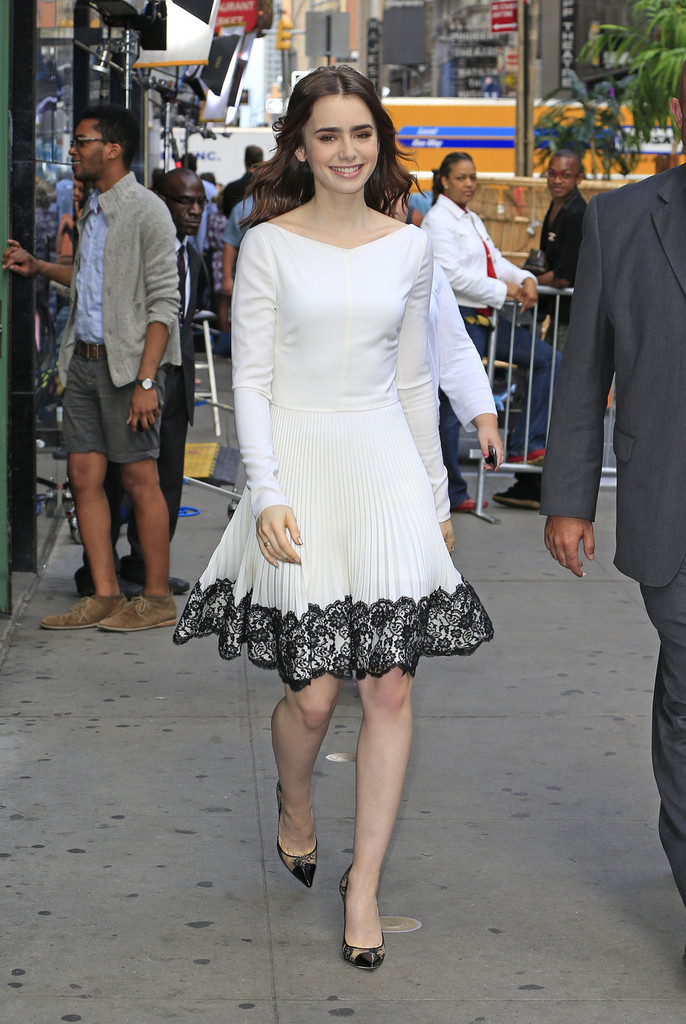 Lily Collins In Lily Collins Stops By Gma Zimbio
