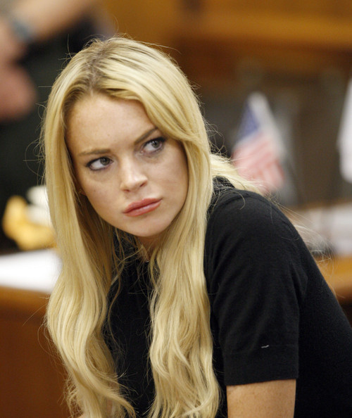 lindsay lohan court photos. Lindsay Lohan in court with