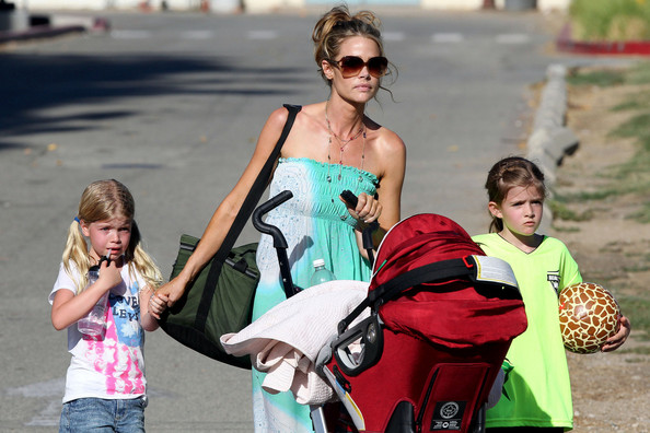 Denise Richards Takes Her Girls to the Park in LA