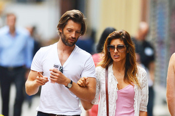 Louis Dowler Actress Jennifer Esposito goes on an afternoon walk in New York City with boyfriend Louis Dowler