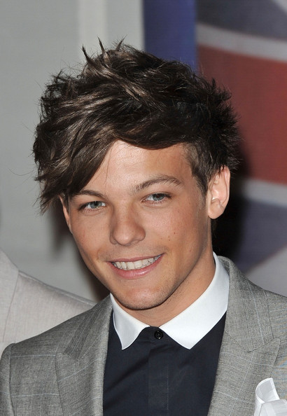 Louis Tomlinson - Stars at The Brit Awards 2012 at The O2 Arena in London