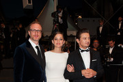 Director James Gray, Marion Cotillard and Jeremy Renner leaving 'the Immigrant' screening held at the Palais Des Festivals as part of the 66th Cannes Film Festival.