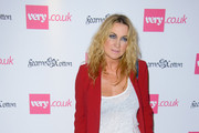 Meg Matthews arrives at Fearne Cotton's SS14 fashion collection for Very.Co.UK in London.